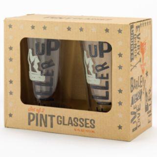 """Filler Up"" 2-pc. Beer Pint Glass Set"