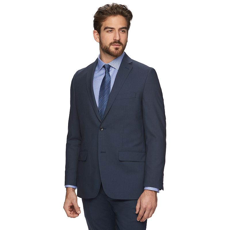 Marc Anthony Modern-Fit Wool-Blend Blue Shadow Suit Jacket - Men