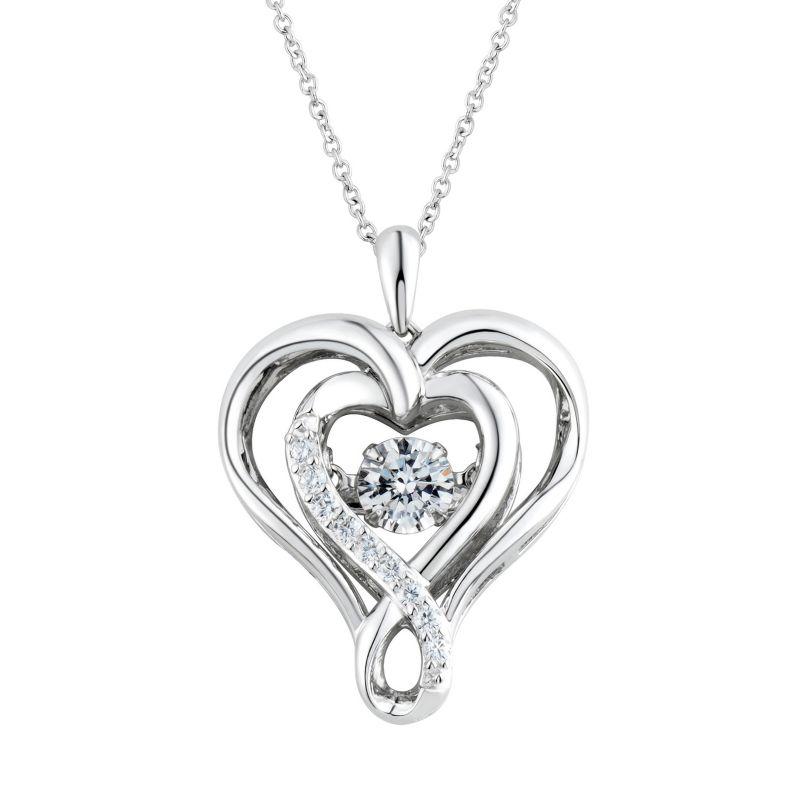 heart shaped diamonds jewelry kohls