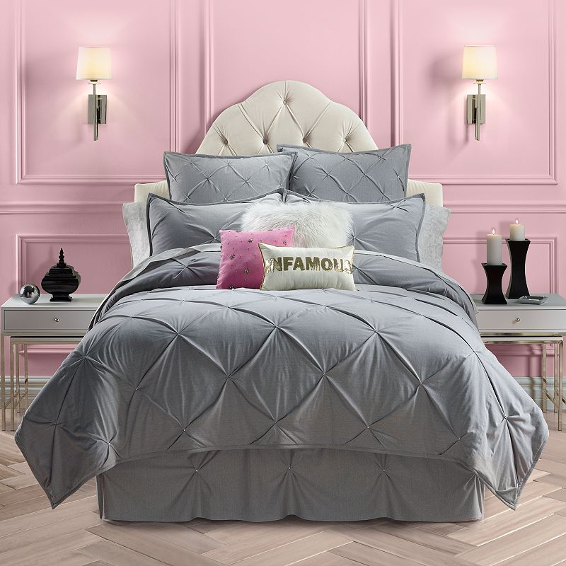 juicy couture pinch tuck coverlet twin xl twin