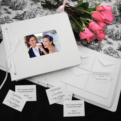 Cathy's Concepts Wedding Wishes Envelope Guest Book