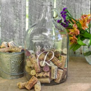 Cathy's Concepts Mr. and Mrs. Wedding Wishes In a Bottle Jar