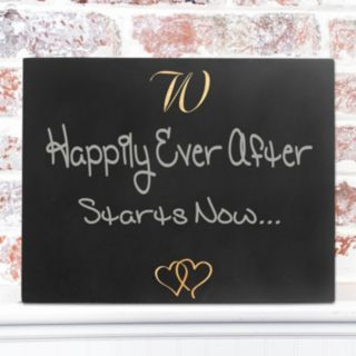 Cathy's Concepts Personalized Double Hearts Chalkboard Decor