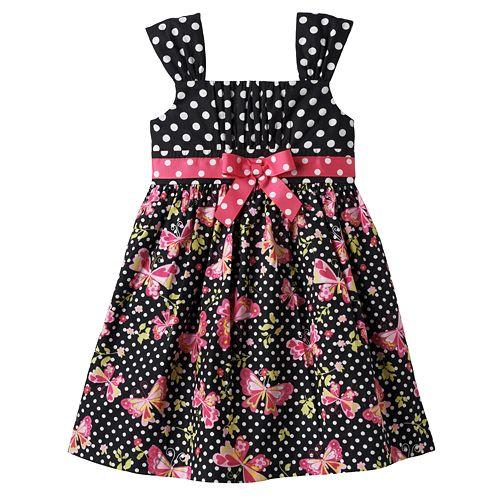 80242ee30b6 Bonnie Jean Polka-Dot Butterfly Dress - Toddler
