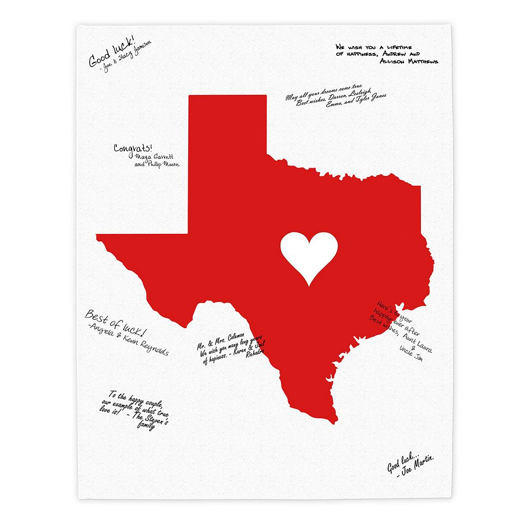Cathy's Concepts Personalized Home State Canvas Wall Art