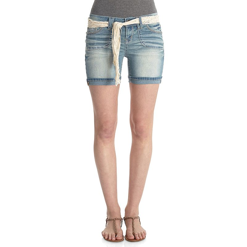 Wallflower Whiskered Juniors' Midi Jean Shorts
