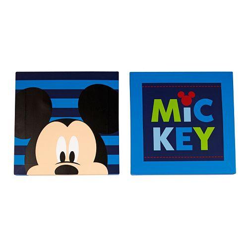Disney's Mickey Mouse 2-pk. Canvas Wall Art