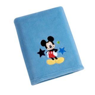 Disney's Mickey Mouse Appliqued Coral Fleece Blanket