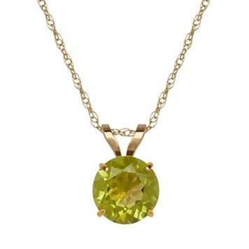 Everlasting Gold Peridot 10k Gold Pendant Necklace