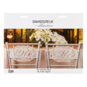David Tutera 2-piece ''Mr. & Mrs.'' Sign Set