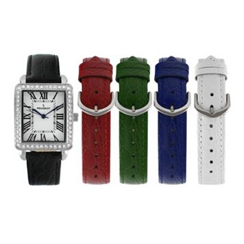 Peugeot Women's Watch & Interchangeable Leather Band Set - 677S