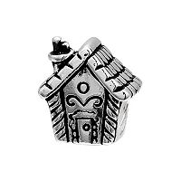 Individuality Beads Sterling Silver Gingerbread House Bead