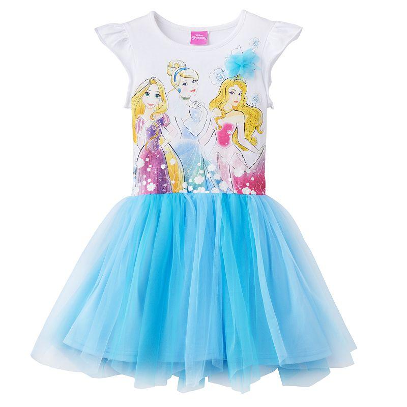 Disney Princess Rapunzel, Cinderella & Aurora Tutu Dress - Girls 4-6x