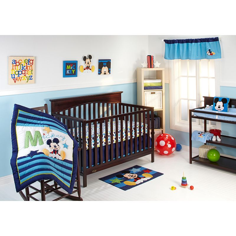 Disney Baby Mickey Mouse My Friend Mickey 4-pc. Crib Bedding Set, Blue