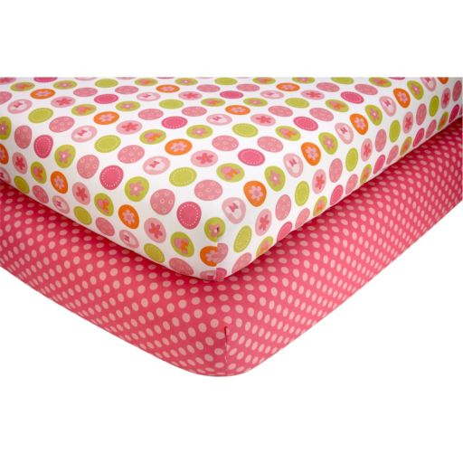 Disney Baby Minnie Mouse Petals Perfect 2-pk. Crib Sheets