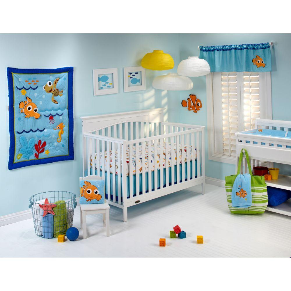 baby finding nemo wavy days 4-pc. crib bedding set