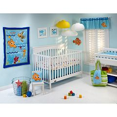 Disney Baby Finding Nemo Wavy Days 4 pc Crib Bedding Set