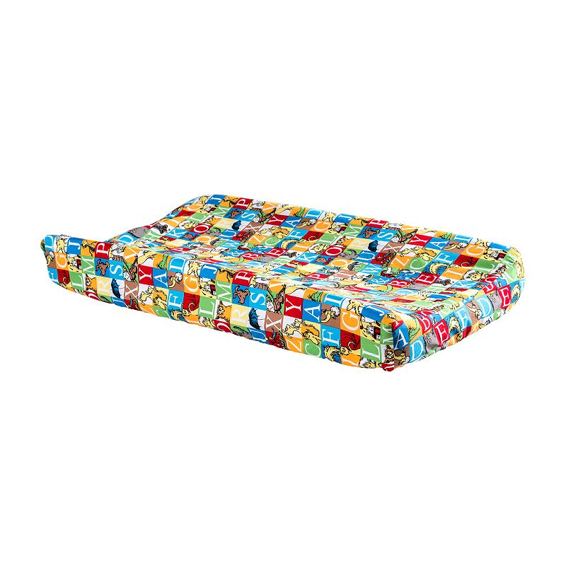 Dr. Seuss Alphabet Seuss Squares Changing Pad Cover by Trend Lab ()