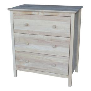 International Concepts 3-Drawer Dresser