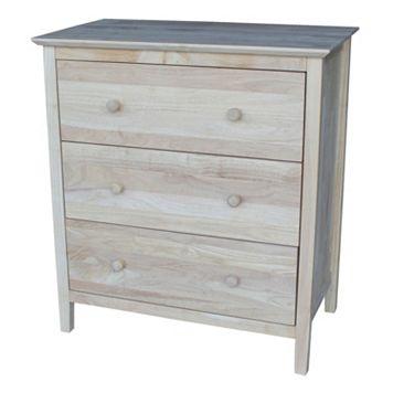 International Concepts 3-Drawer Dresser