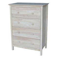 International Concepts 4-Drawer Dresser