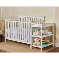Dream On Me Chloe 5 in 1 Convertible Crib & Changer