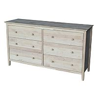 International Concepts 6-Drawer Dresser