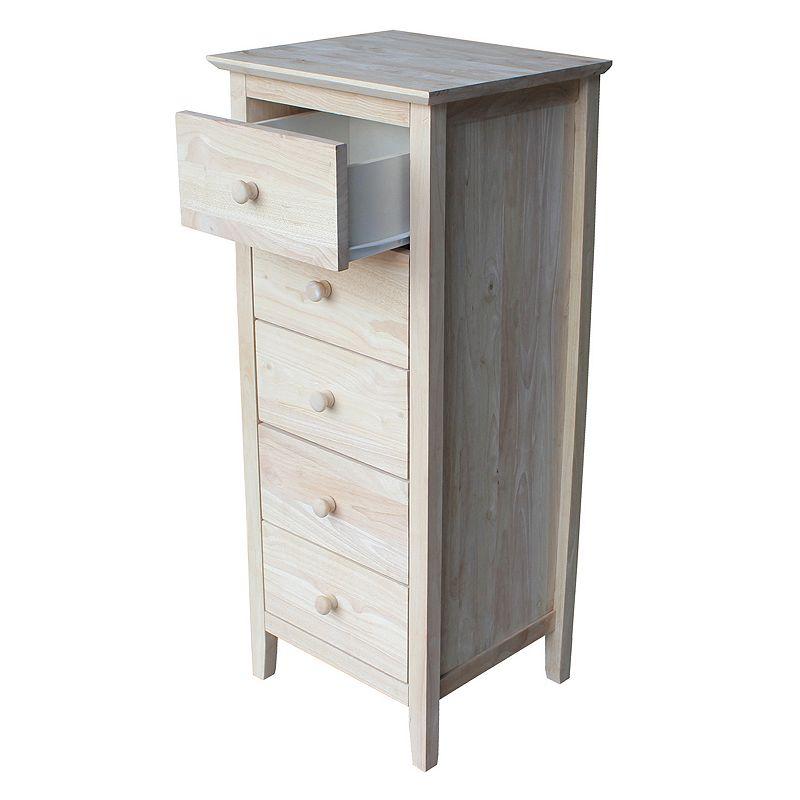 International Concepts 5-Drawer Lingerie Dresser, Brown