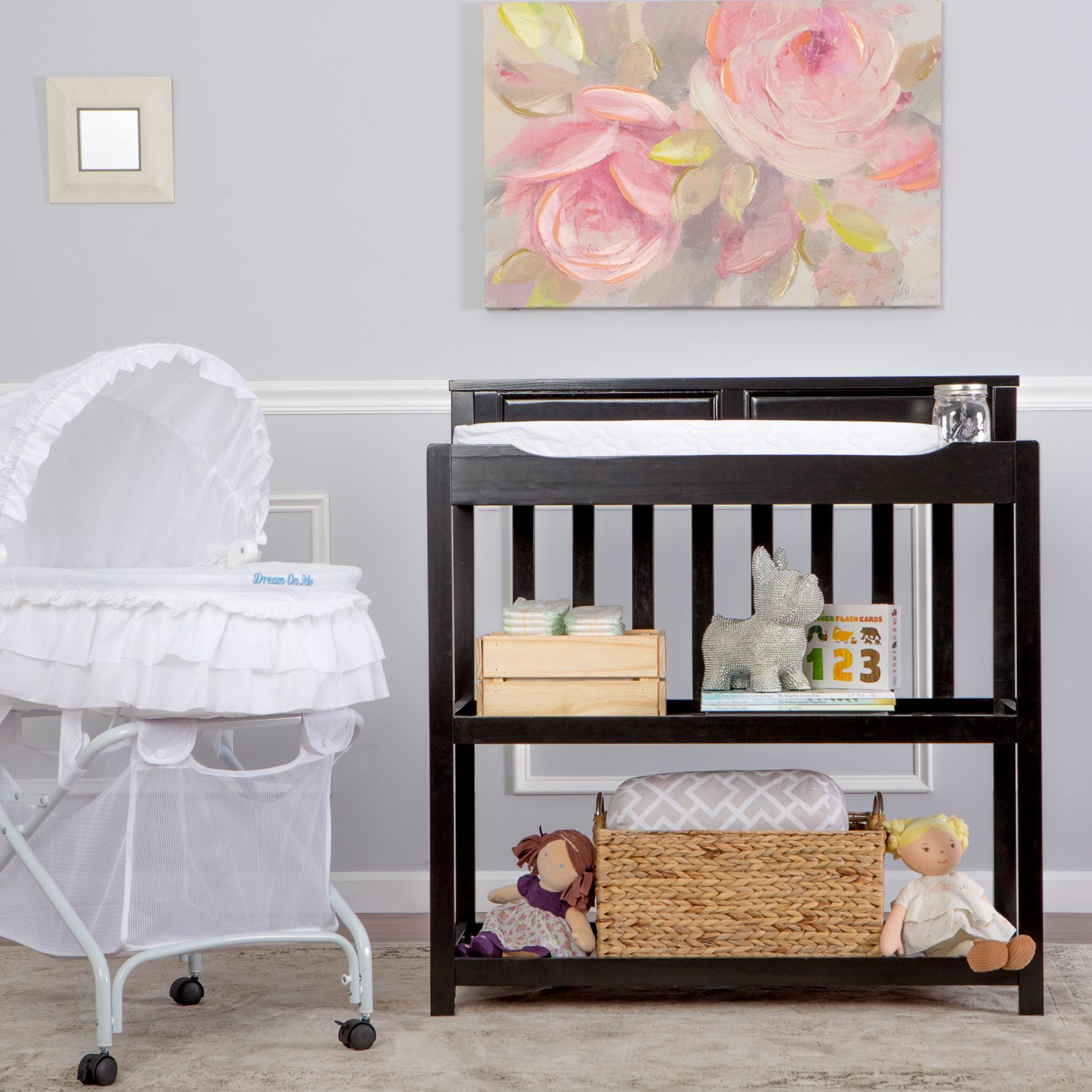 Dream On Me Zoey Convertible Changing Table U0026 Twin Bed