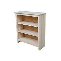 International Concepts Shaker 3-Shelf Bookcase