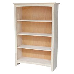 International Concepts Shaker 4-Shelf Bookcase