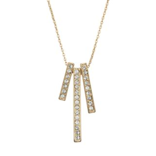 Crystal Collection Crystal 14k Gold-Plated Stick Pendant Necklace