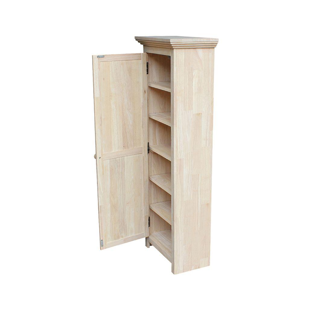 International Concepts Unfinished 6-Shelf Storage Cabinet