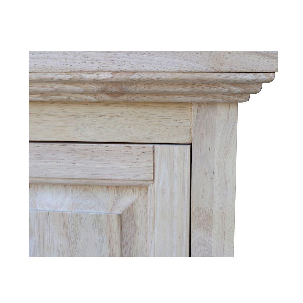 International Concepts Unfinished 4-Shelf Storage Cabinet