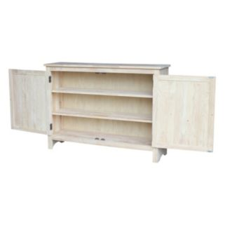 International Concepts 3-Shelf Entryway Storage Cabinet