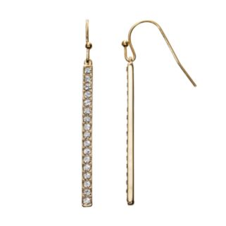 Crystal Collection Crystal 14k Gold-Plated Stick Drop Earrings