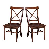 International Concepts 2-piece X-Back Chair Set
