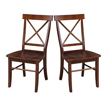 International Concepts 2-piece X-Back Chair Set