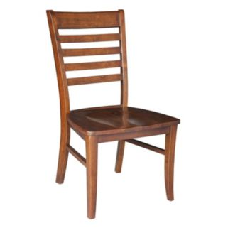 International Concepts 2-piece Cosmo Roma Espresso Chair Set