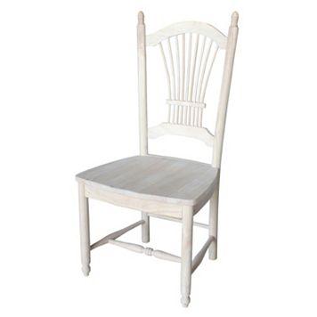 International Concepts 2-piece Sheaf Back Chair Set