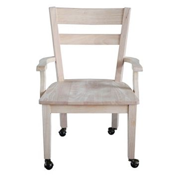 International Concepts Wheeled Dining Chair