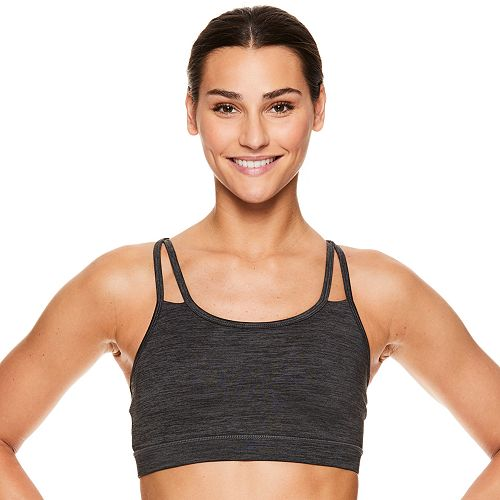 Gaiam Shine Wire-Free Medium-Impact Yoga Sports Bra
