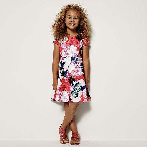MILLY for DesigNation Floral Scuba Dress - Girls 4-6x