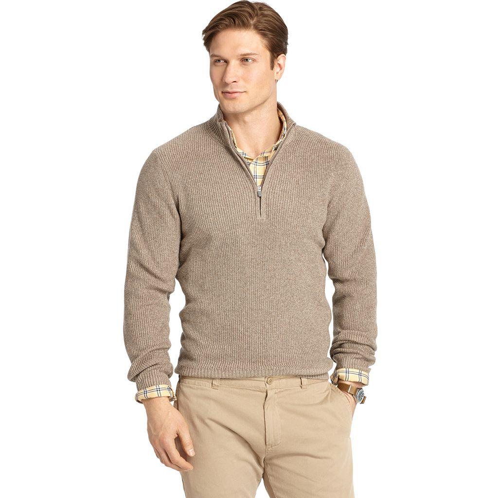 Men's IZOD Classic-Fit Marled Shaker Quarter-Zip Sweater