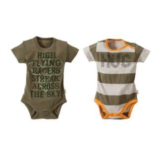 Baby Boy Burt's Bees Baby 2-pk. Organic Graphic Bodysuits