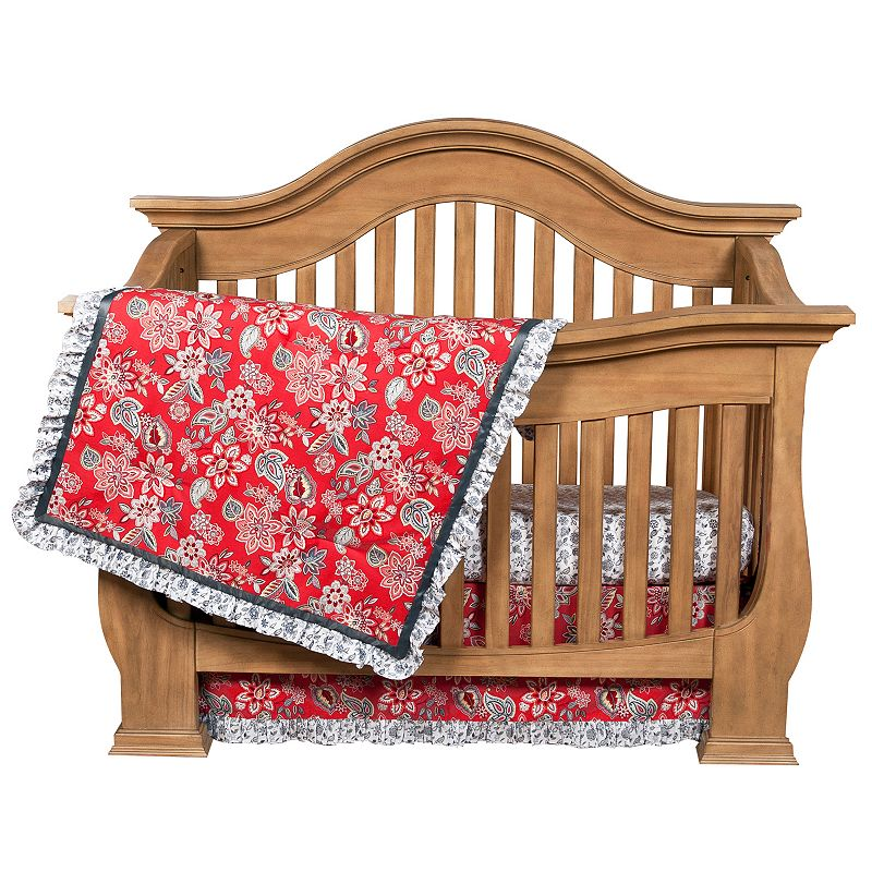 Waverly Baby Charismatic 3-pc. Crib Bedding Set by Trend Lab (Red)