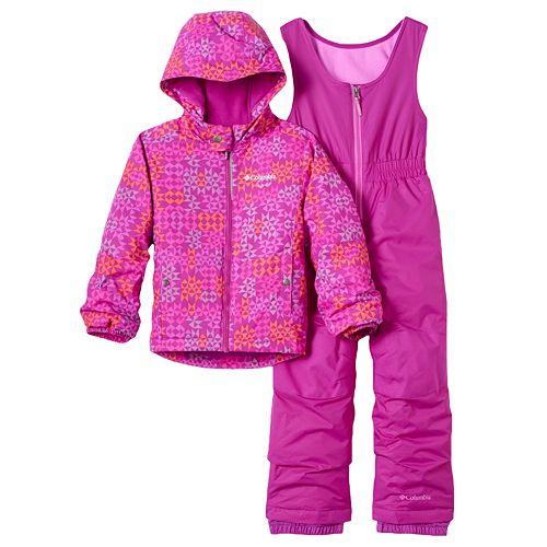 3756f66c9 Toddler Girl Columbia OUTGROWN Jacket & Bib Snow Pants Set