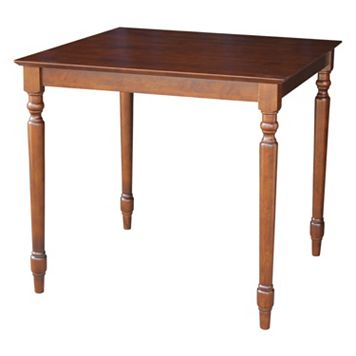 International Concepts Turned Leg Counter Height Table