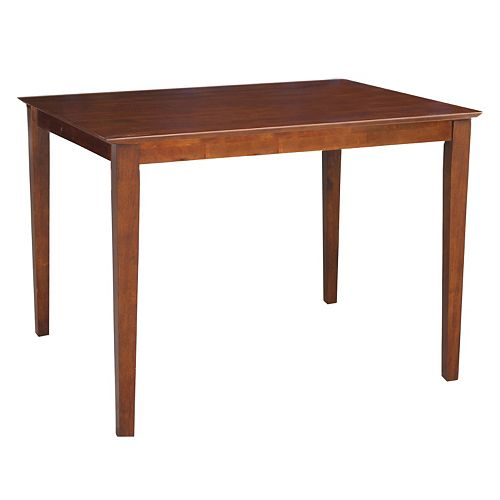 International Concepts Shaker Leg Counter Height Table