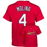 Majestic St. Louis Cardinals Yadier Molina Tee - Boys 4-7